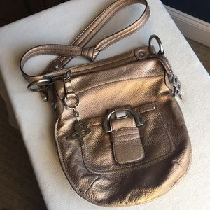 Makowsky bronze color leather crossbody bag